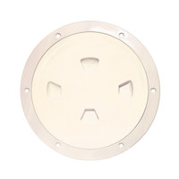 "Beckson 8"" Smooth Center Screw-Out Deck Plate - Beige"