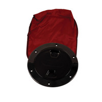 "Beckson 4"" Stow-Away Deck Plate - Black w\/12"" Bag"