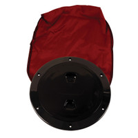 "Beckson 6"" Stow-Away Deck Plate - Black w\/12"" Bag"