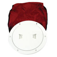 "Beckson 6"" Stow-Away Deck Plate - White w\/12"" Bag"