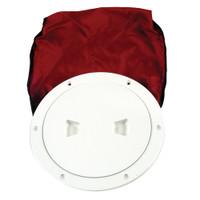 "Beckson 6"" Stow-Away Deck Plate - White w\/12"" Bag"