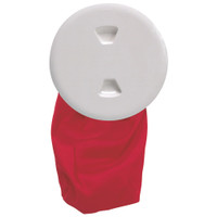 "Beckson 5"" Stow-Away Deck Plate - White w\/12"" Bag"