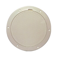 "Beckson 6"" Non-Skid Pry-Out Deck Plate - Beige"