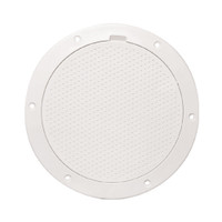 "Beckson 6"" Non-Skid Pry-Out Deck Plate - White"
