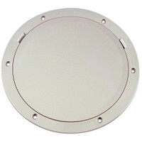 """Beckson 8"""" Smooth Center Pry-Out Deck Plate - White"""
