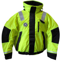 First Watch Hi-Vis Flotation Bomber Jacket - Hi-Vis Yellow\/Black - Medium