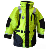 First Watch Hi-Vis Flotation Coat - Hi-Vis Yellow\/Black - X-Large