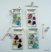 Rectangle Gemstone Mosaic Toggle