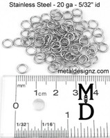 Stainless Steel Jump Rings 20g 5/32""