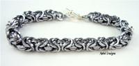 Square Byzantine Bracelet in 18g AA