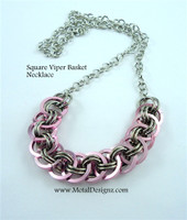 Square Viper Basket Necklace