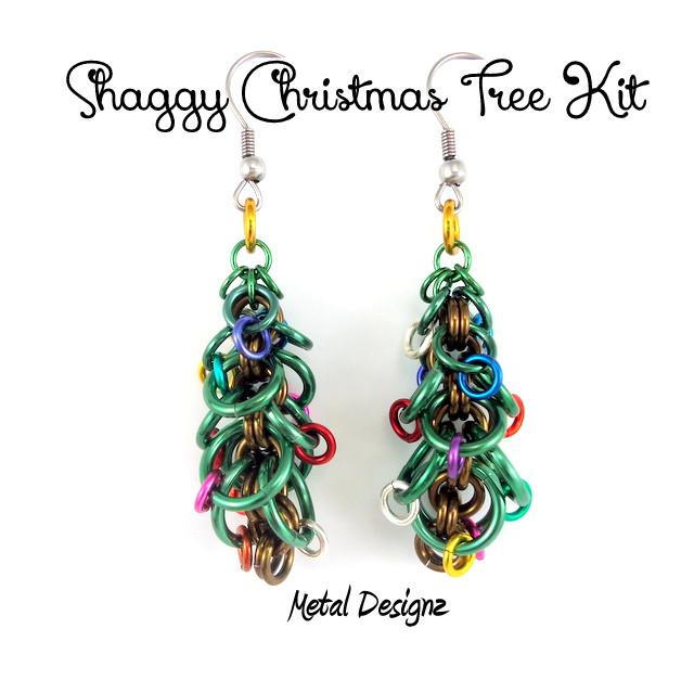 Shaggy christmas tree earring kit metal designz shaggy christmas tree earring kit do it yourself jewellery making kits solutioingenieria Image collections