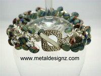 Shaggy Lamp Work Beaded Sterling Bracelet Kit