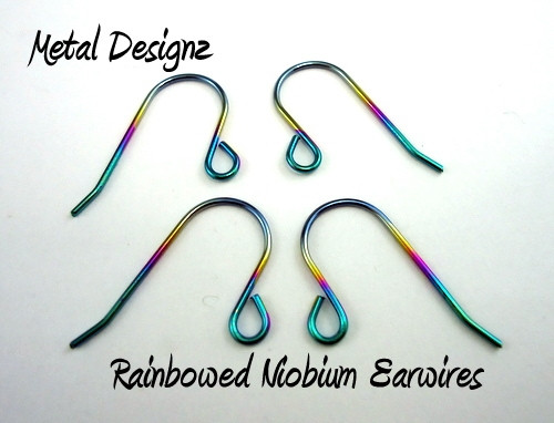 Anodized Niobium Ear Wires -- Stunning Colours - Metal Designz
