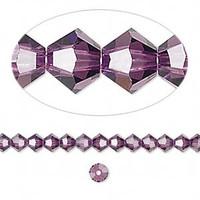 Swarovski crystal, amethyst, 4mm  bicone