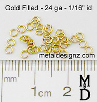 Gold Fill 24 Gauge 1/16 id.