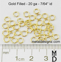 "Gold Fill 20 Gauge 7/64"" id."