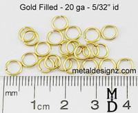 "Gold Fill 20 Gauge 5/32"" id."