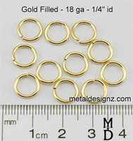 "Gold Fill 18 Gauge 1/4"" id."