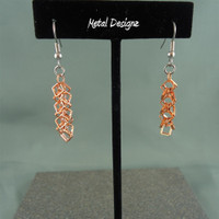 Copper Shaggy Loop Squares Earrings