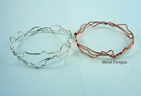 Copper Squiggle Bangle Bracelet