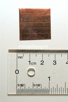 Copper Sheet - 1 inch by 1 inch-- bag of 10