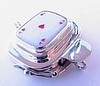 Ace of Hearts Sterling Silver Box Clasp - Single strand only!