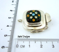 Rhinestone Studded Glass Box Clasp - Studio Indah