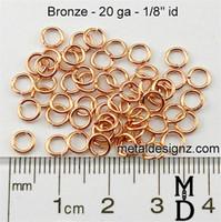 """Bronze Jump Rings 20 gauge 1/8"""""""