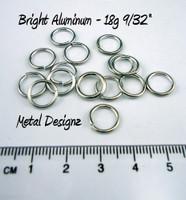 """Bright Aluminum Jump Rings 18 Gauge 9/32"""" id"""