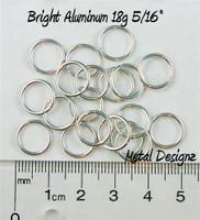 """Bright Aluminum Jump Rings 18 Gauge 5/16"""" id."""