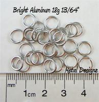 """Bright Aluminum Jump Rings 18 Gauge 13/64"""""""