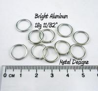 """Bright Aluminum Jump Rings 18 Gauge 11/32"""""""