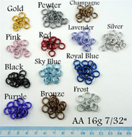 Anodized Aluminum Jump Rings 16 Gauge 7/32""