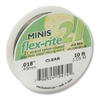 FLEXRITE 21 STRAND .018 CLEAR- 10 FT
