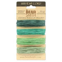 HEMP 4 COLOR CARD 1.0MM 20 LB TEST EMERALD SHADES
