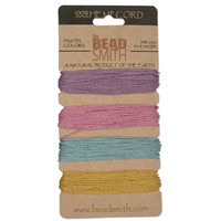 HEMP 4 COLOR CARD 1.0MM 20 LB TEST PASTEL COLRS