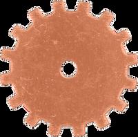 19mm Copper gear blanks