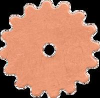 16mm Copper gear blanks
