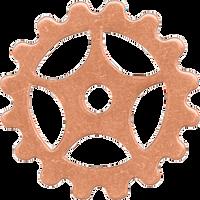 16mm Copper sprocket blanks