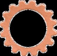16mm Copper gear link blanks