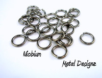 """Niobium Jump Rings 18 Gauge 3/16"""" id."""