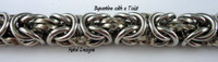 Stainless Steel Byzantine Twist Bracelet Kit