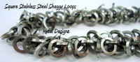 Stainless Steel Square Shaggy Loops Bracelet Kit