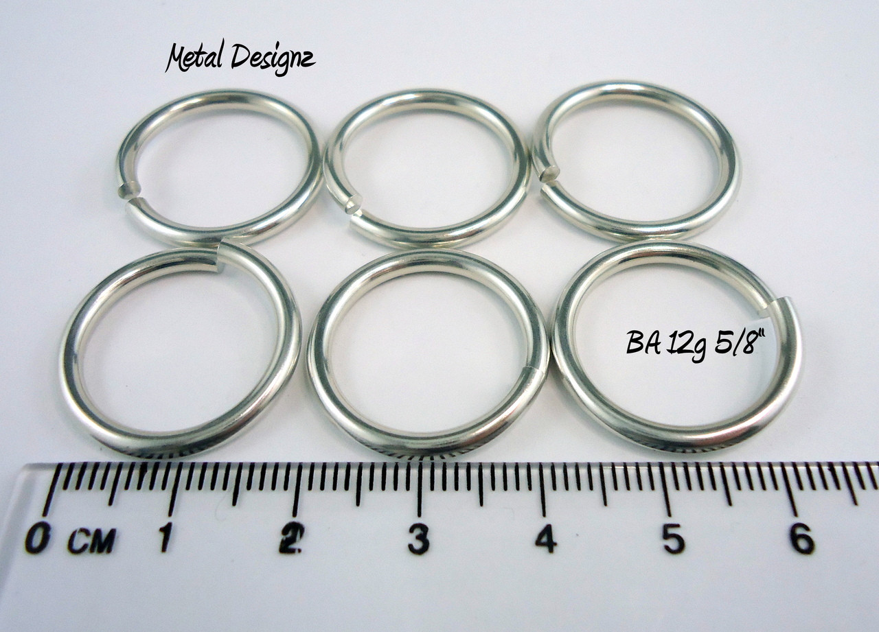 Bright Aluminum Jump Rings 12 gauge 5/8\