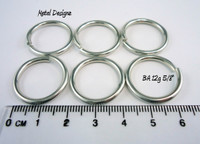 "Bright Aluminum Jump Rings 12 gauge 5/8"" id"