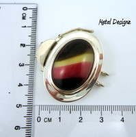 Sterling Silver Oval Box Clasp -- Studio Indah