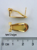 Fingernail Ear Hooks - Silver or Gold colour