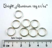 """Bright Aluminum Jump Rings 18 Gauge 21/64"""""""
