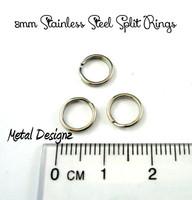 8mm Stainless Steel Split Rings